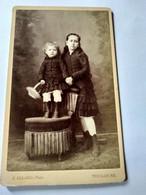 Photo CDV Enfant - Deux Soeurs - Circa 1875 - Photo Allard à Toulouse T BE - Oud (voor 1900)