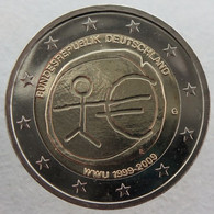 AL20009.1G - ALLEMAGNE - 2 Euros Commémo. 10 Ans De L'UEM - 2009 G - Alemania