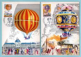 Carte Maximum 1983 - Bicentenaire De L'air Et De L'espace YT 2261 Et 2262 - 93 Le Bourget - 1980-89