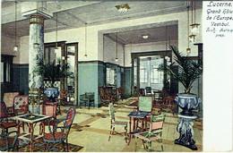 Lucerne. Grand Hôtel Del'Europe. Vestibul. - LU Lucerne