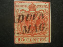 Österreich 1850/54- 15 Centesimi Wappenzeichnung Lombardei Venetien Mi.Nr. LV3 Ohne WZ Ungeprüft - Used Stamps