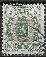 Finlande 1885 N°34 Oblitéré Série Courante Cote 70 Euros - Gebruikt