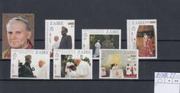 /Zaire Michel Cat.No. Mnh/** 897/903 Pope Paul - 1980-89: Nuevos