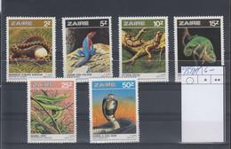 /Zaire Michel Cat.No. Mnh/** 939/944 Reptiles - 1980-89: Nuevos