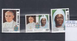 /Zaire Michel Cat.No. Mnh/** 1075/1077 Pope Paul - 1980-89: Nuevos