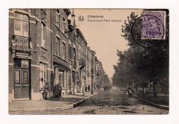 CHARLEROI :Boulevard Paul Janson - Animée - Circulée En 1920 - 2 Scans - Charleroi