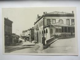 Photocarte VERFEIL (31) L'hôtel De Ville Et Le Faubourg - Verfeil