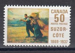 Canada 1969 - Tableau Du Peintre Aurele De Foy Suzor-Cote, YT 413, MNH** - Nuevos