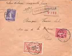 VD 5000F Lettre Onville 6 11 1928 Pour Paris - 1921-1960: Moderne