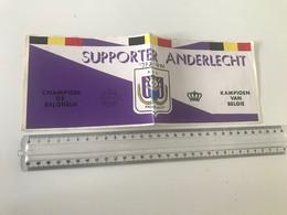 Vieil Autocollant  (1973-1974)  SUPPORTER ANDERLECHT KKamppioen Van Belgie - Champion De Belgique - Unclassified