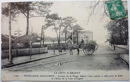 AVENUE DE LA PLAGE , DÉPART D'UNE VOITURE Á SABLE POUR LA FORÊT - MOULLEAU-ARCACHON - Arcachon