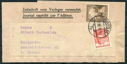 1938 Austria / Germany, Mixed Franking Newspaper Wrapper Wien - Karlsruhe. - Storia Postale