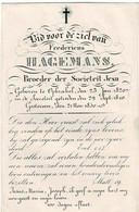 OPBRAKEL - Broeder Fredericus HAGEMANS -  Societeit Jesu - °1820 En Overleden 1850 - Andachtsbilder
