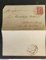 Kaiserreich 1906, Kartenbrief 10 Heller, SMIRICE V. CECHACH Gelaufen WILHELMSBURG - Storia Postale