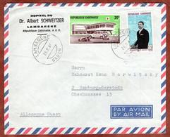 Luftpost, Hospital Albert Schweitzer, Rotes Kreuz U.a., Lambarene Nach Hamburg 1969 (99342) - Gabon
