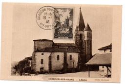 Carte 1er Jour  / Oradour Sur Glane / L'Eglise / 19/4/1946 - 1940-49