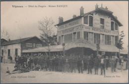 Vigneux , Hotel Du Progrès , Maison Ranque , Restaurant , Café , Concert , Bal , Animée - Vigneux Sur Seine