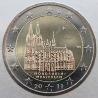 AL20011.1F - ALLEMAGNE - 2 Euros Commémo. Nord-Westphalie - 2011 F - Alemania