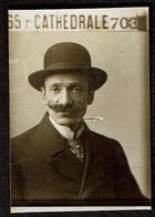 Photo Originale - Photobooth - Photo Identité Photomaton - Homme - Moustache - Liège 65 Rue Cathédrale - Voir Scan - Anonieme Personen