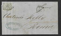 Etats Pontifications  Lettre  ( Avec  Correspondance )    Du 07 02 1865 De Civitavecchia  Pour Roma - Stato Pontificio