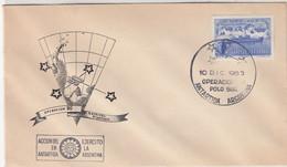 Argentina 1965 Operacion Polo Sur Cover (50831) - Expediciones Antárticas