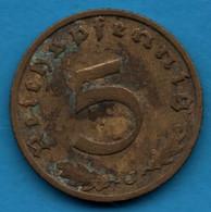DEUTSCHES REICH 5 Reichspfennig 1938 J KM# 91 Swastika - 5 Reichspfennig