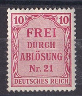 Empire IIIe Reich 1941  Timbre De Service   Y&T N ° 4  Neuf ** - Neufs
