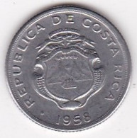 Costa Rica 10 Centimos 1958, En  Acier Inoxydable, KM# 185.1a - Costa Rica