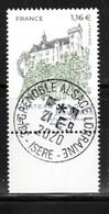 France 2020.Chateau Des Ducs De Bourbon Montluçon.Allier .cachet Rond Gomme D'Origine - Used Stamps