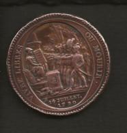 Médaille (dite De Monneron) De Confiance De 5 Sols,remboursable En Assignat De 50 Et Au Dessus An IV De La Liberté 1792 - 1789-1795 Periode Franse Revolutie