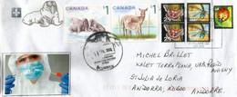 Belle Lettre Du Canada, Adressée Andorra,pendant Confinement Coronavirus: Covid19 Test Kit, Avec Timbre à Date Arrivée - Covers & Documents