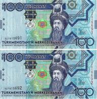 TURKMENISTAN 2009 100 Manat - P.27 Neuf UNC - Turkmenistan
