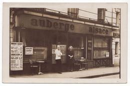 Paris - Carte-photo - Auberge Alsace - 13, Rue Des Deux Gares (Xe Arrondissement) - Vue Unique - Pubs, Hotels, Restaurants