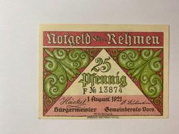 Allemagne Notgeld Rehmen 25 Pfennig - Collections