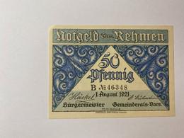 Allemagne Notgeld Rehmen 50 Pfennig - Collections