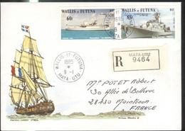 Lettre Philatélique Wallis Et Futuna 1985 - Thème Voiliers / Sailboat - Unclassified