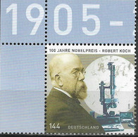 2005 Deutschland  Allem. Fed. Germany  Mi. 2496**MNH  EOL  100. Jahrestag Der Verleihung Des Nobelpreises An Robert Koch - Ongebruikt