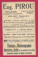 1902 PHOTOGRAPHIE Eugène PIROU, 5 Boulevard St Germain à PARIS .. PUBLICITE ANCIENNE - Advertising
