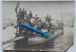 1914 1918 Brest Cherbourg Torpilleur Marine France Escorte Convois Anti-sous Marins Mascotte Ww1 Poilus Photo - War, Military