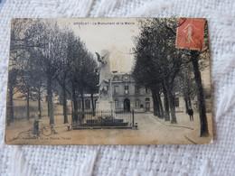 TIR - CPA DE GROSLAY 95 LE MONUMENT ET LA MAIRIE - Groslay