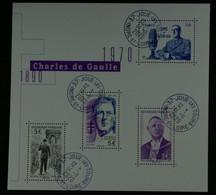 France 2020 General De Gaulle 1890-1970- Bloc Oblitéré - Gebraucht