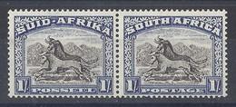 SOUTH AFRICA....KING GEORGE VI...(1936-52.).......1/-  X PAIR.......SG120a.........MH. - Ongebruikt