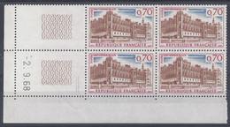 ST-GERMAIN En LAYE N° 1501 - Bloc De 4 COIN DATE - NEUF ** - 2/9/68 2 Traits - 1960-1969