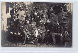 BRENT Montreux (VD) Groupe De Soldats Français Internés - CARTE PHOTO H. Dufaux 6 Juin 1916 - VD Vaud