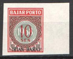 Indonesië / Indonesia 1968 Irian Barat Port 9 ONGETAND Postfris/MNH Varieteit, Variety - Indonesia
