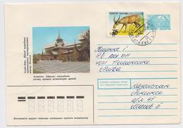 Kazakhstan Cover Mail 1993 Leninsk Baikonur Cosmodrome Space OVERPRINT Fauna - Kazakistan