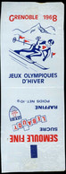 Emballage De Sucre Ancien  Lebaudy Semoule Fine Sucre Raffiné Grenoble 1968 Jeux Olympiques D'Hiver - Sugars
