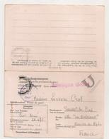 1942 LETTRE  DU STALAG VI A  HEMMER ( Rhénanie-du-Nord-Westphalie ) AVEC CARTE REPONSE /  KRIEGSGEFANGENENPOST C1657 - Covers & Documents