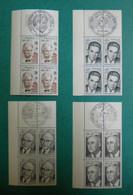 F 1975/ Neuf**/ YT 1824/1827 / Schweizer, Michelet, Schuman, Thomas / Bloc De 4 Cdf,  Obl PJ Xx/xx/1975 Sur Bdf - Ongebruikt