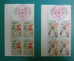 F 1975/ Neuf**/ YT 1860/1861 / Croix-rouge, Les Saisons, Printemps, L'automne / Cdf,  Obl PJ 29/11/1975 Sur Bdf - Nuovi